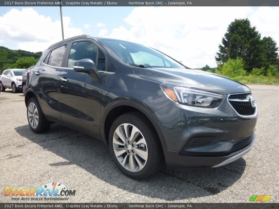 2017 Buick Encore Preferred AWD Graphite Gray Metallic / Ebony Photo #3