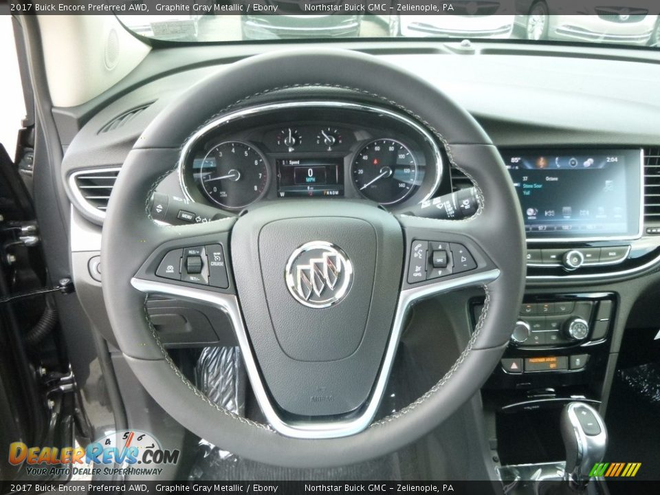 2017 Buick Encore Preferred AWD Graphite Gray Metallic / Ebony Photo #17