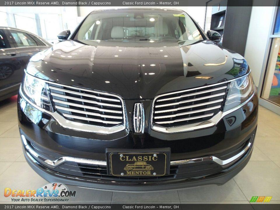 2017 Lincoln MKX Reserve AWD Diamond Black / Cappuccino Photo #2