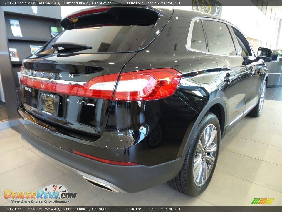 2017 Lincoln MKX Reserve AWD Diamond Black / Cappuccino Photo #4