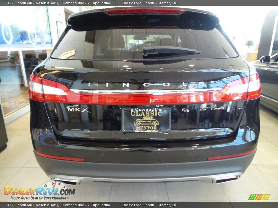 2017 Lincoln MKX Reserve AWD Diamond Black / Cappuccino Photo #5
