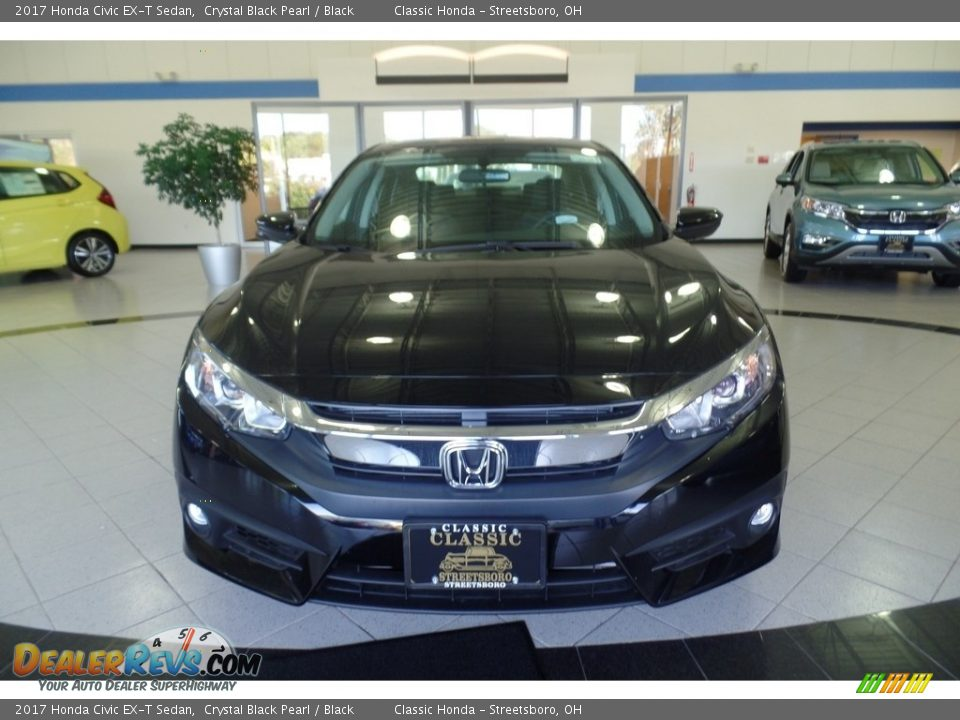 2017 Honda Civic EX-T Sedan Crystal Black Pearl / Black Photo #3