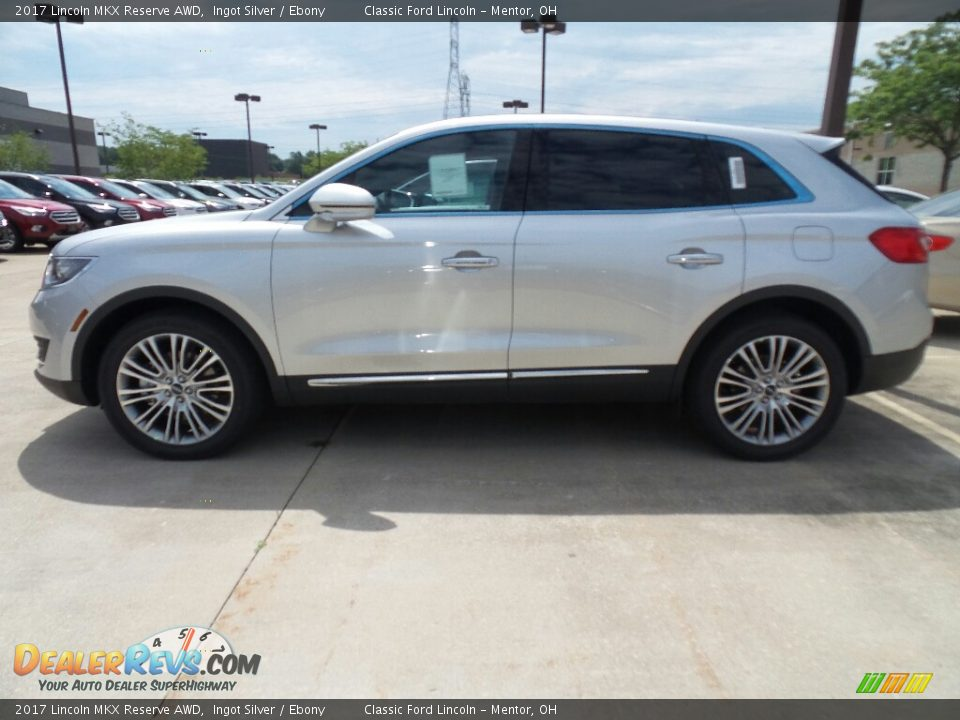 2017 Lincoln MKX Reserve AWD Ingot Silver / Ebony Photo #3