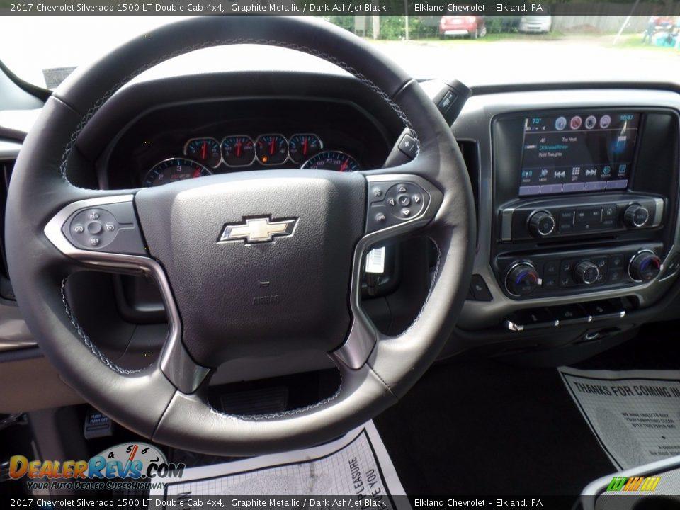 2017 Chevrolet Silverado 1500 LT Double Cab 4x4 Graphite Metallic / Dark Ash/Jet Black Photo #20