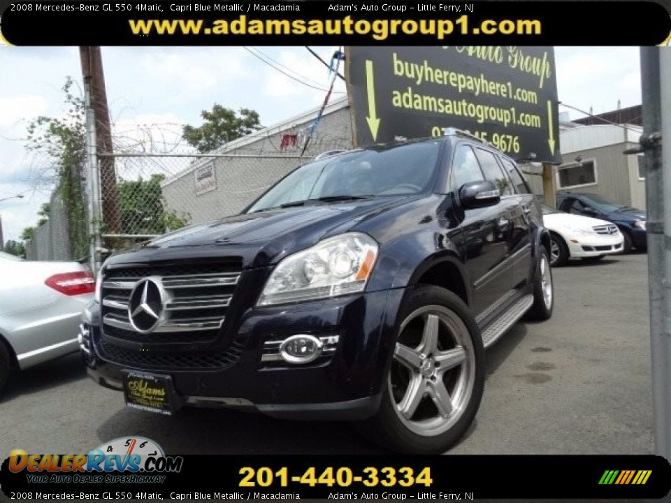 2008 Mercedes-Benz GL 550 4Matic Capri Blue Metallic / Macadamia Photo #1