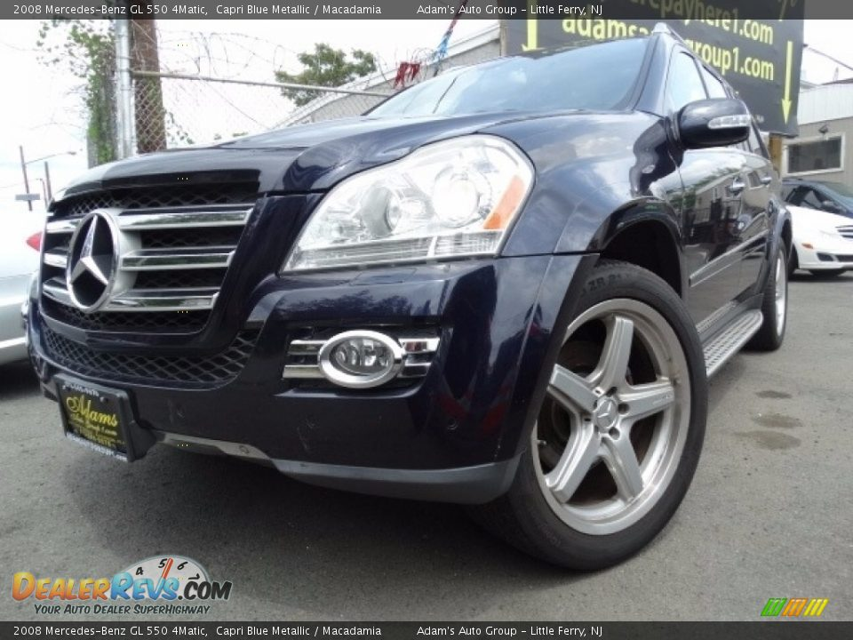 2008 Mercedes-Benz GL 550 4Matic Capri Blue Metallic / Macadamia Photo #2