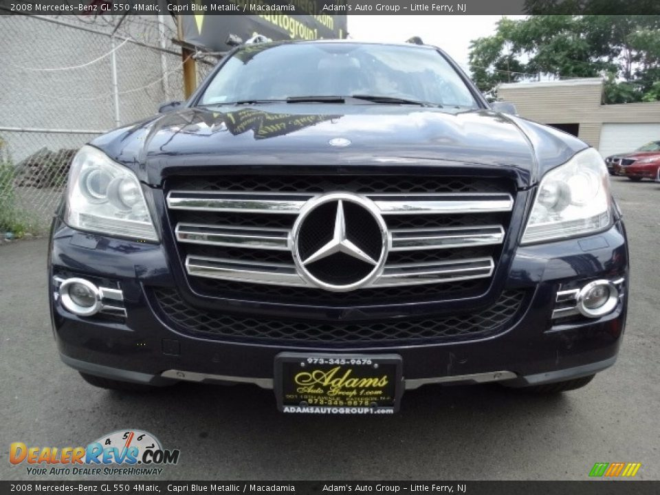 2008 Mercedes-Benz GL 550 4Matic Capri Blue Metallic / Macadamia Photo #3