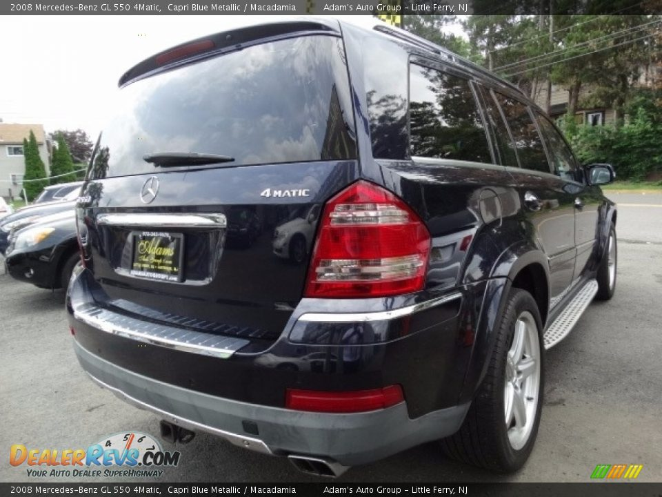 2008 Mercedes-Benz GL 550 4Matic Capri Blue Metallic / Macadamia Photo #5