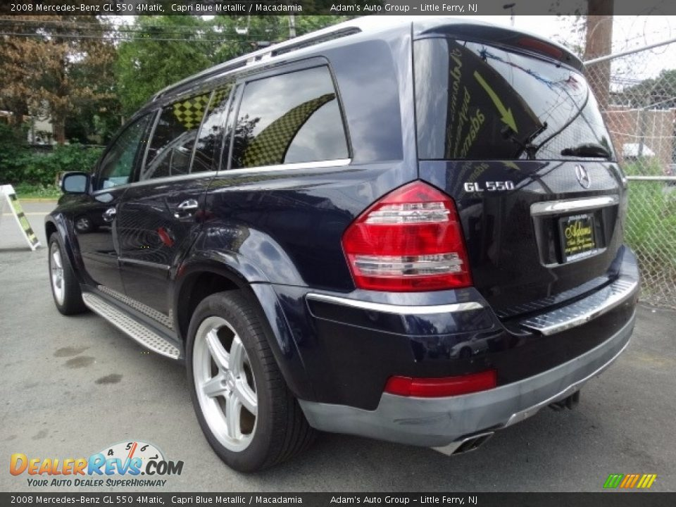 2008 Mercedes-Benz GL 550 4Matic Capri Blue Metallic / Macadamia Photo #7