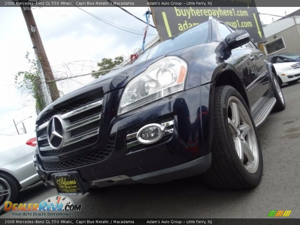 2008 Mercedes-Benz GL 550 4Matic Capri Blue Metallic / Macadamia Photo #9