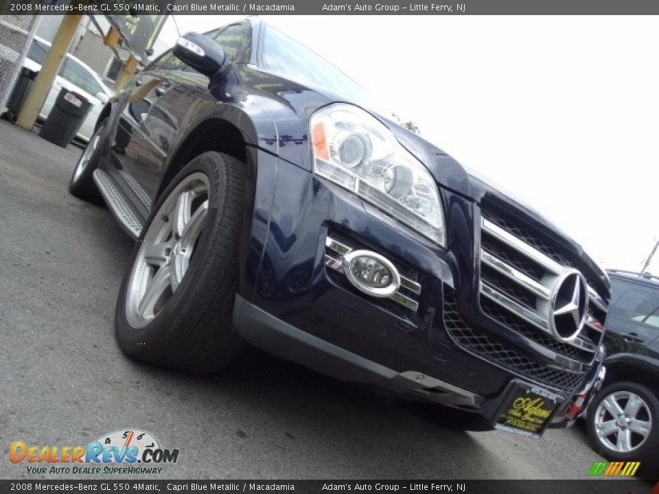 2008 Mercedes-Benz GL 550 4Matic Capri Blue Metallic / Macadamia Photo #10