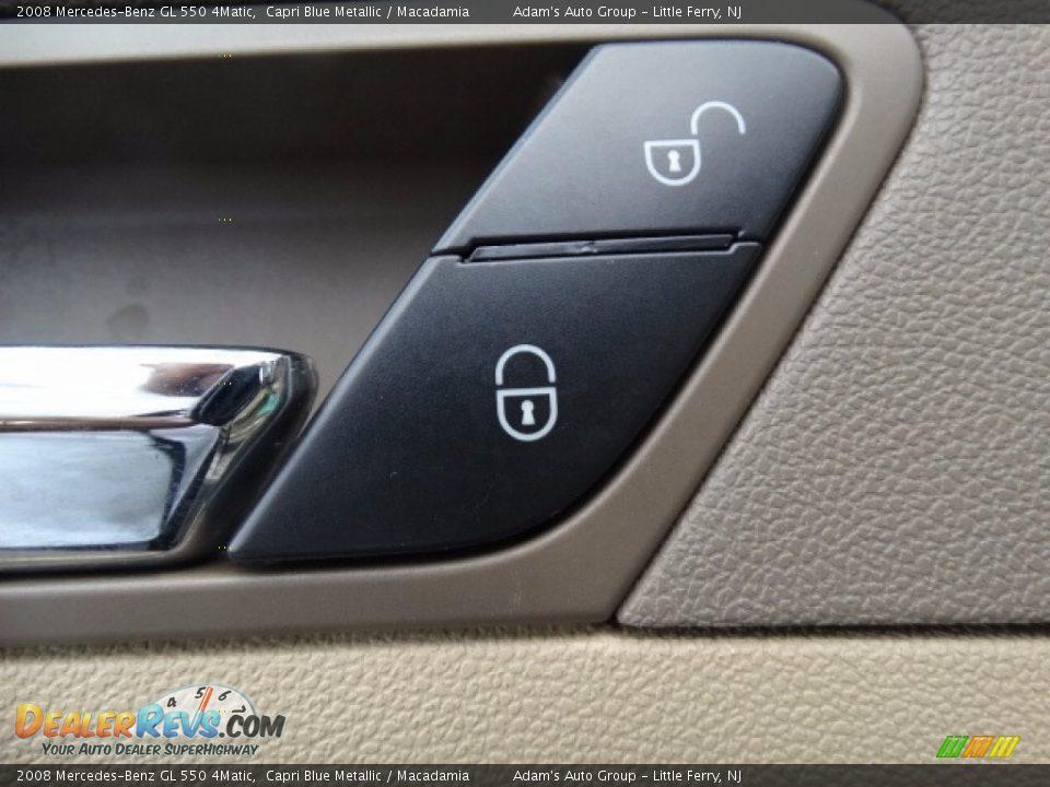 2008 Mercedes-Benz GL 550 4Matic Capri Blue Metallic / Macadamia Photo #17