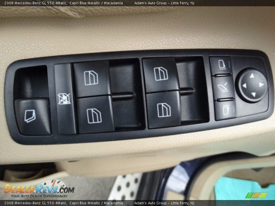 2008 Mercedes-Benz GL 550 4Matic Capri Blue Metallic / Macadamia Photo #18