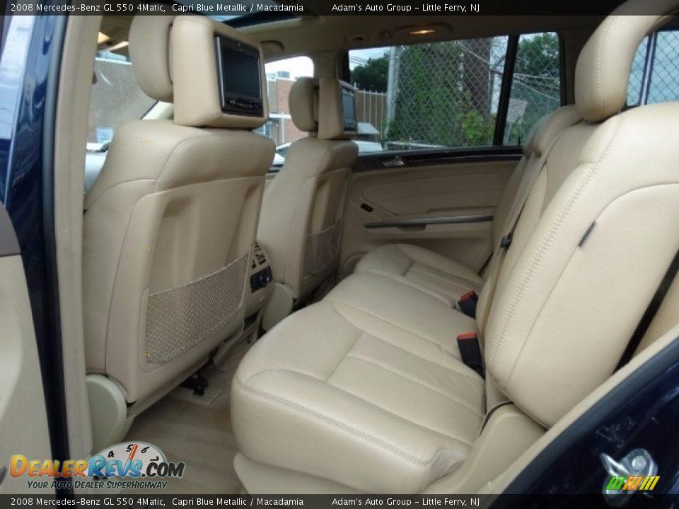 2008 Mercedes-Benz GL 550 4Matic Capri Blue Metallic / Macadamia Photo #31
