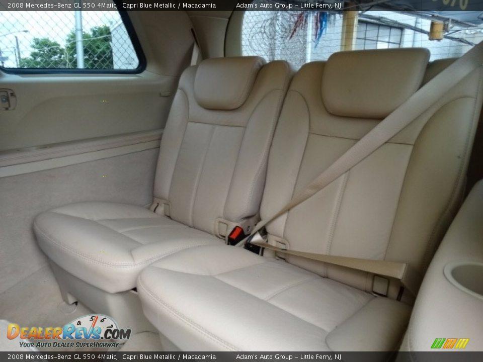 2008 Mercedes-Benz GL 550 4Matic Capri Blue Metallic / Macadamia Photo #32