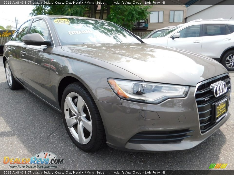 2012 Audi A6 3.0T quattro Sedan Quartz Gray Metallic / Velvet Beige Photo #3