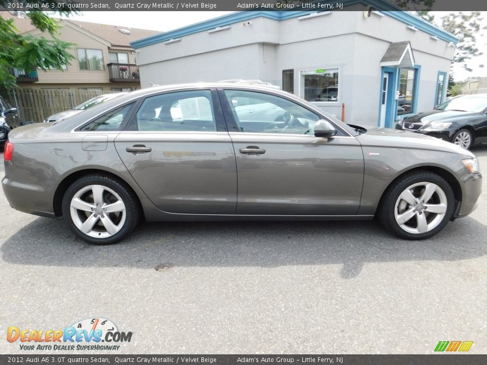 2012 Audi A6 3.0T quattro Sedan Quartz Gray Metallic / Velvet Beige Photo #4