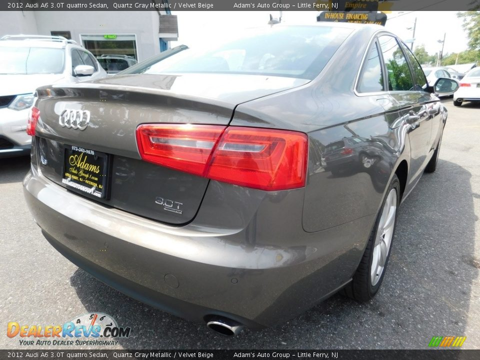 2012 Audi A6 3.0T quattro Sedan Quartz Gray Metallic / Velvet Beige Photo #5