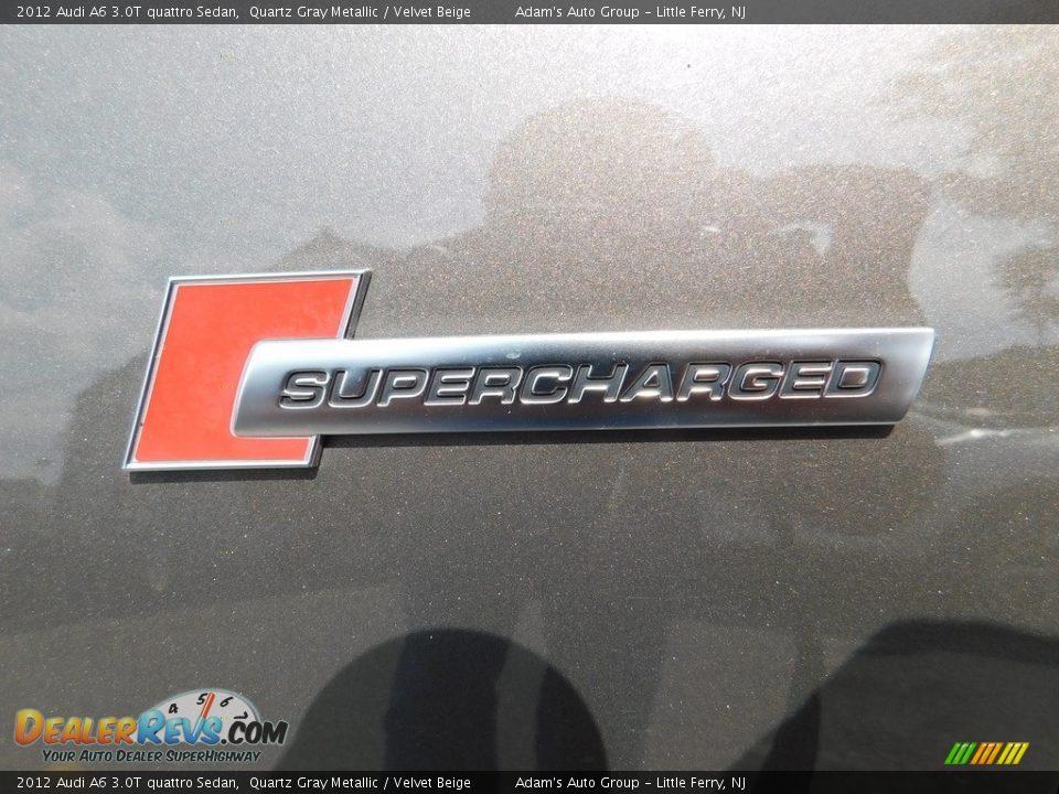 2012 Audi A6 3.0T quattro Sedan Quartz Gray Metallic / Velvet Beige Photo #9