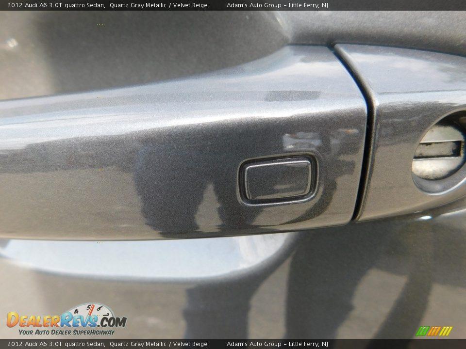 2012 Audi A6 3.0T quattro Sedan Quartz Gray Metallic / Velvet Beige Photo #10