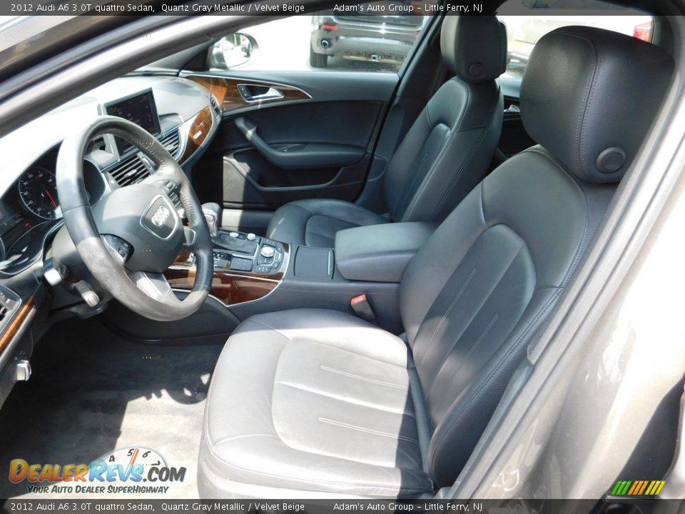 2012 Audi A6 3.0T quattro Sedan Quartz Gray Metallic / Velvet Beige Photo #13