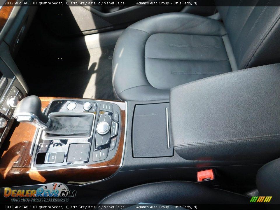 2012 Audi A6 3.0T quattro Sedan Quartz Gray Metallic / Velvet Beige Photo #25
