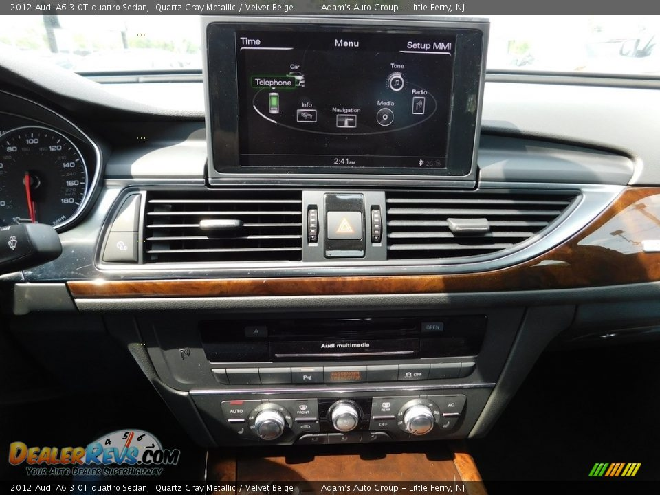 2012 Audi A6 3.0T quattro Sedan Quartz Gray Metallic / Velvet Beige Photo #28