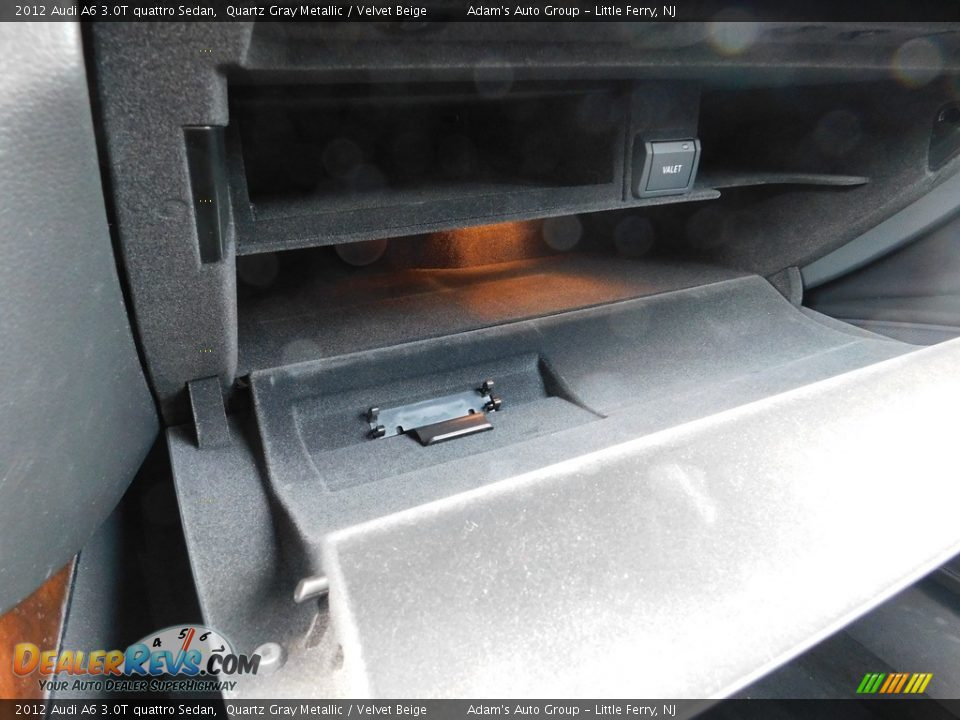 2012 Audi A6 3.0T quattro Sedan Quartz Gray Metallic / Velvet Beige Photo #31