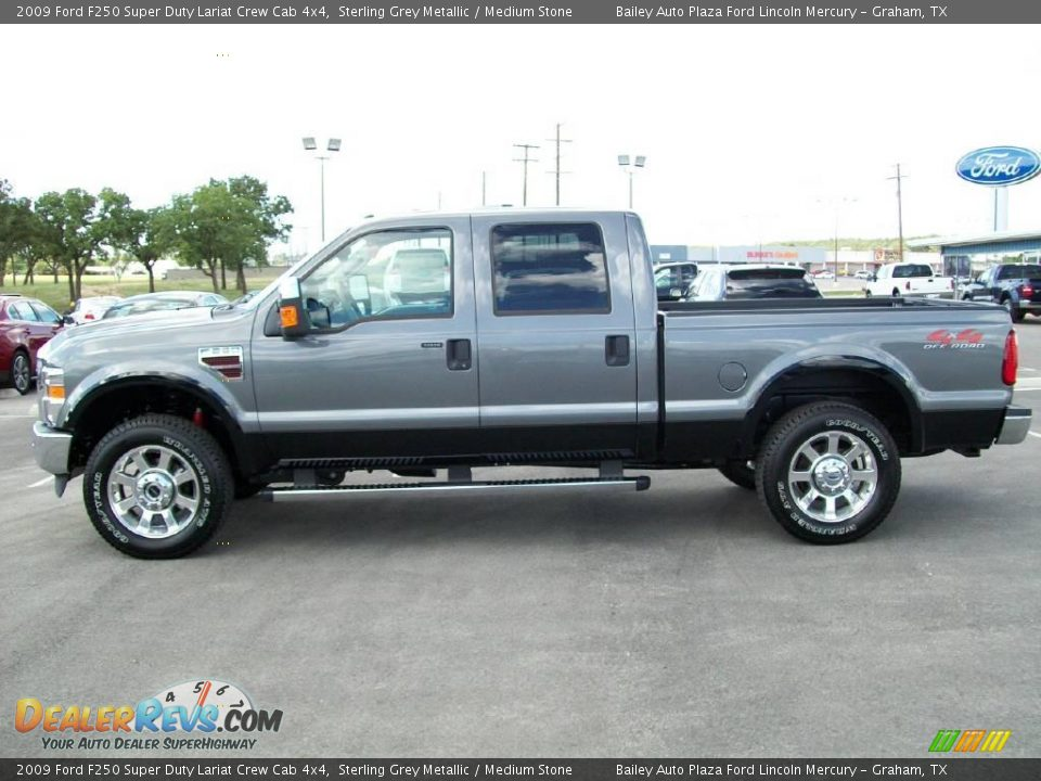 2009 ford f250 super duty lariat crew cab 4x4 sterling grey metallic medium stone photo 2. Black Bedroom Furniture Sets. Home Design Ideas