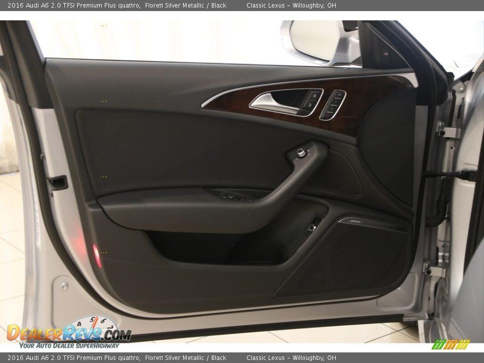 2016 Audi A6 2.0 TFSI Premium Plus quattro Florett Silver Metallic / Black Photo #4