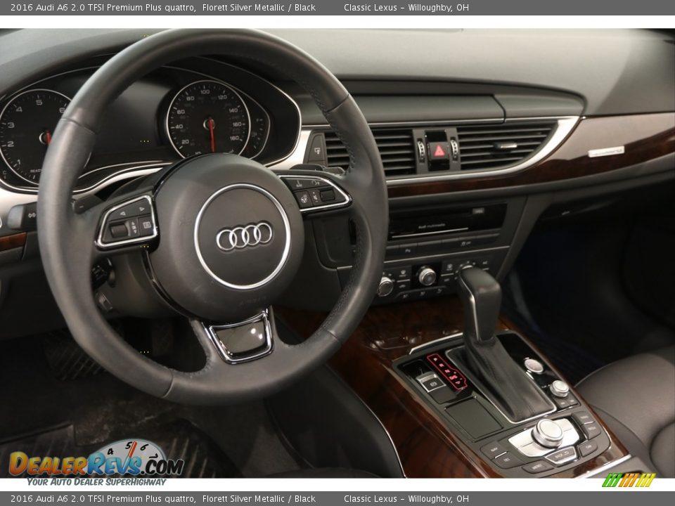 2016 Audi A6 2.0 TFSI Premium Plus quattro Florett Silver Metallic / Black Photo #6