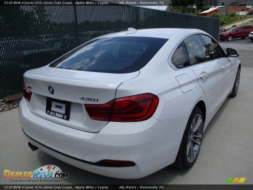 2018 BMW 4 Series 430i xDrive Gran Coupe Alpine White / Cognac Photo #4