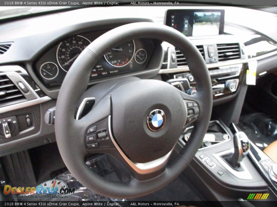 2018 BMW 4 Series 430i xDrive Gran Coupe Alpine White / Cognac Photo #12