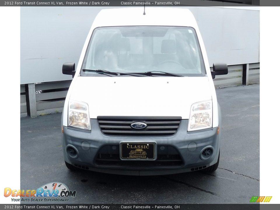 2012 Ford Transit Connect XL Van Frozen White / Dark Grey Photo #4