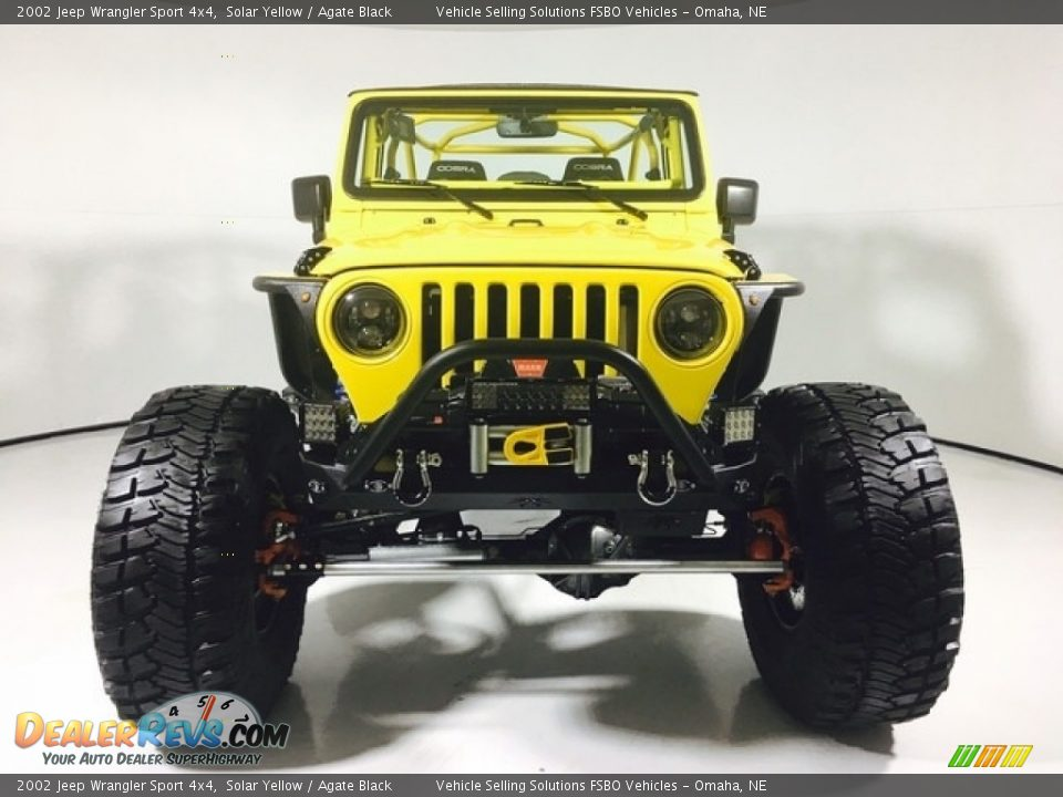 2002 Jeep Wrangler Sport 4x4 Solar Yellow / Agate Black Photo #4