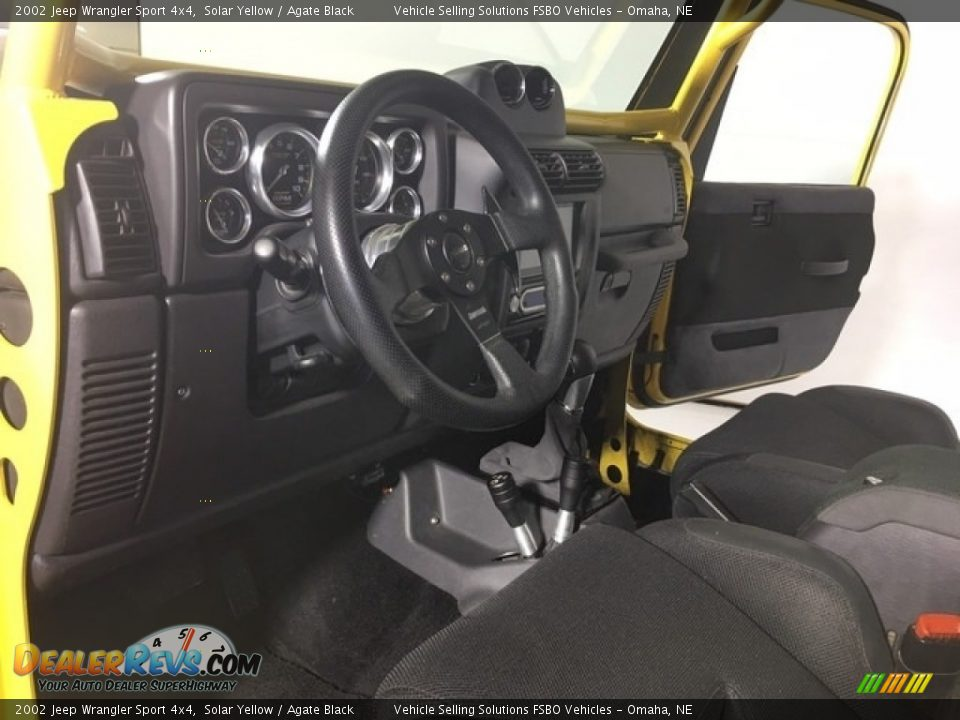 2002 Jeep Wrangler Sport 4x4 Solar Yellow / Agate Black Photo #8