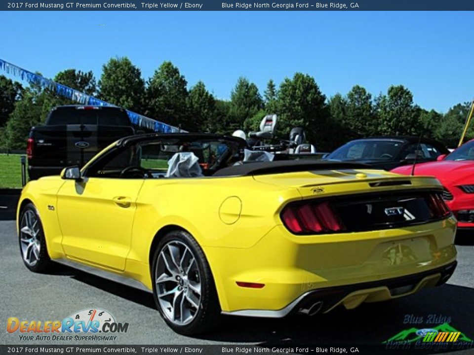 2017 Ford Mustang GT Premium Convertible Triple Yellow / Ebony Photo #3
