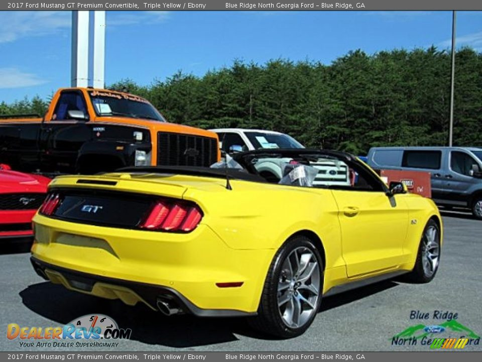 2017 Ford Mustang GT Premium Convertible Triple Yellow / Ebony Photo #5