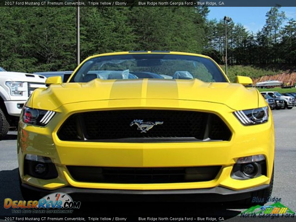 2017 Ford Mustang GT Premium Convertible Triple Yellow / Ebony Photo #9