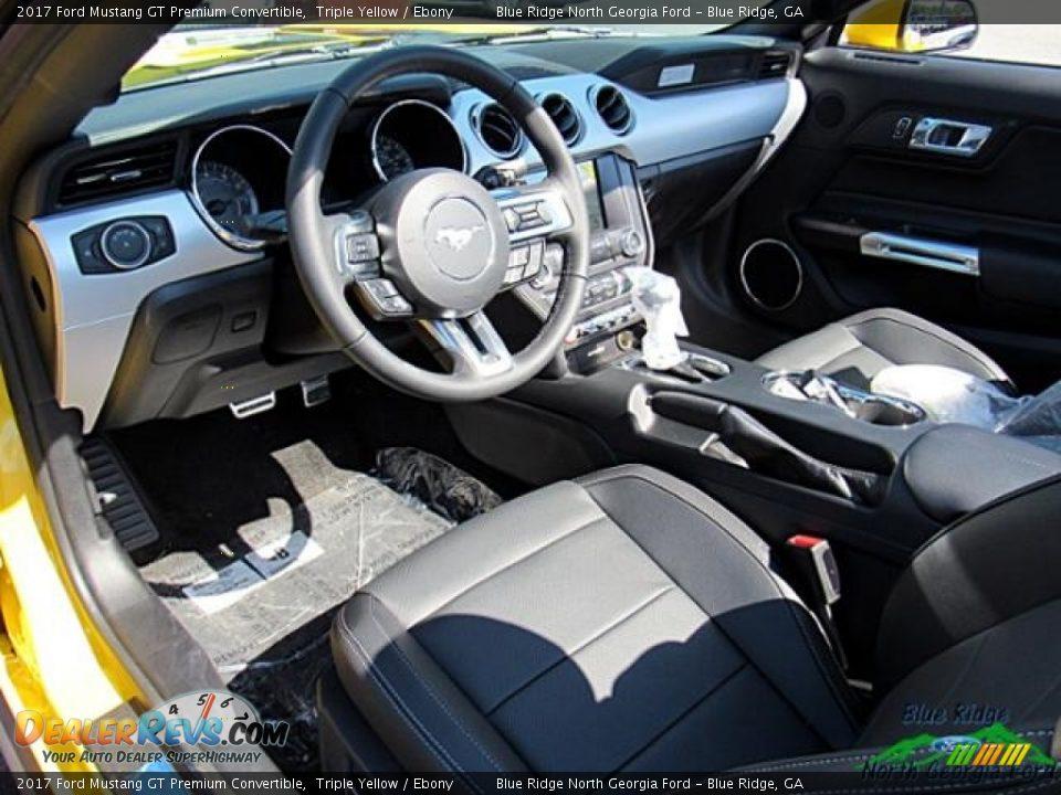 2017 Ford Mustang GT Premium Convertible Triple Yellow / Ebony Photo #30