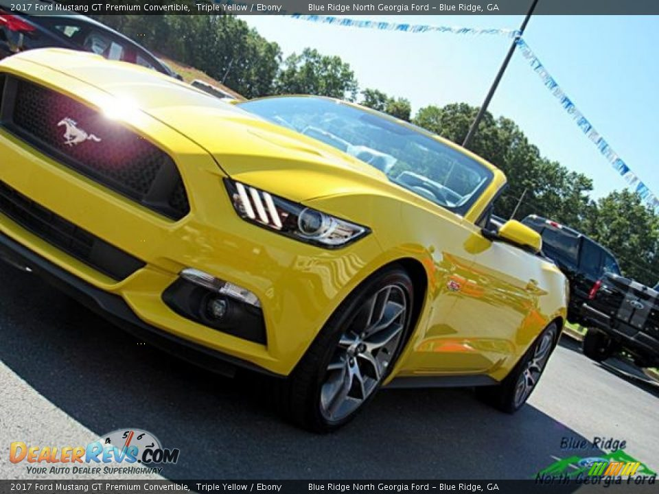 2017 Ford Mustang GT Premium Convertible Triple Yellow / Ebony Photo #32