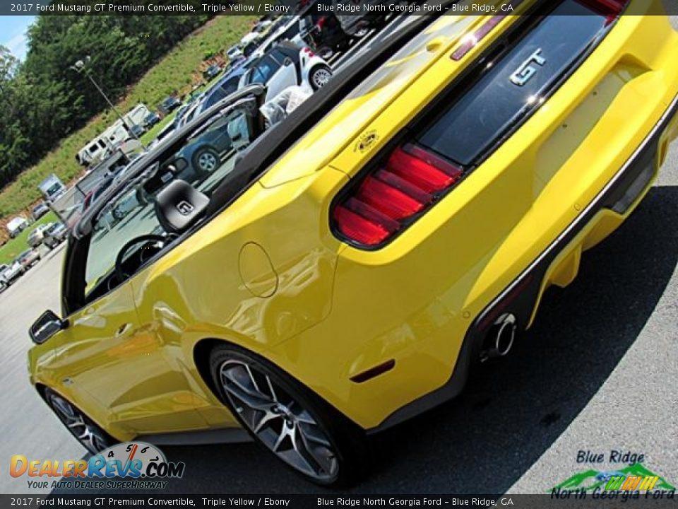 2017 Ford Mustang GT Premium Convertible Triple Yellow / Ebony Photo #35