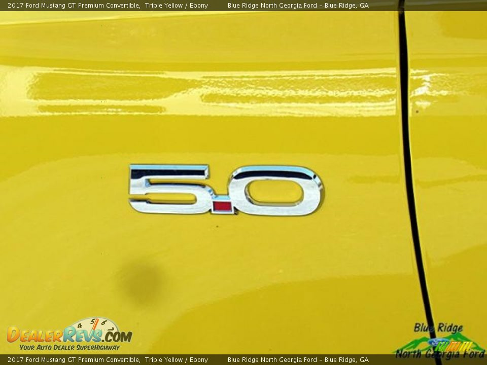 2017 Ford Mustang GT Premium Convertible Triple Yellow / Ebony Photo #36