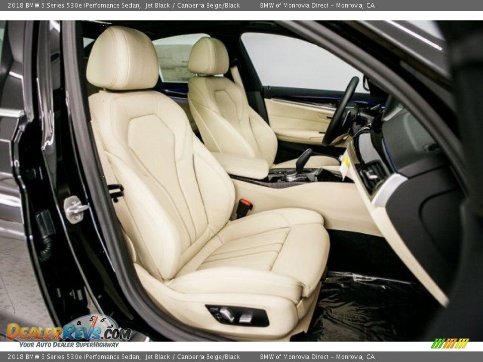 Canberra Beige/Black Interior - 2018 BMW 5 Series 530e iPerfomance Sedan Photo #2