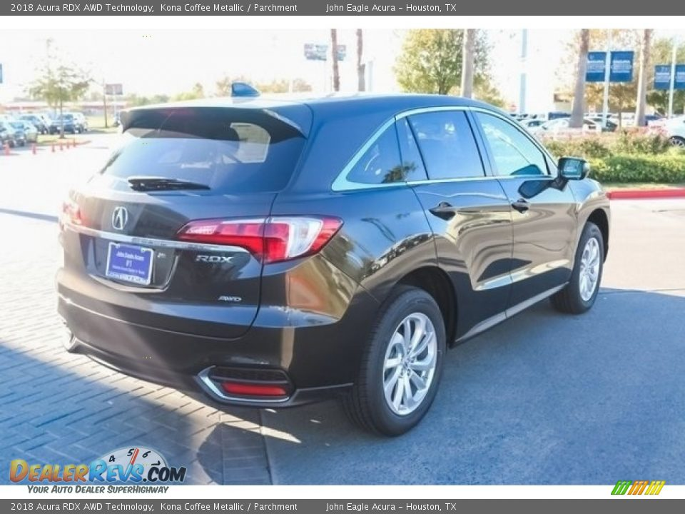 2018 Acura RDX AWD Technology Kona Coffee Metallic / Parchment Photo #7