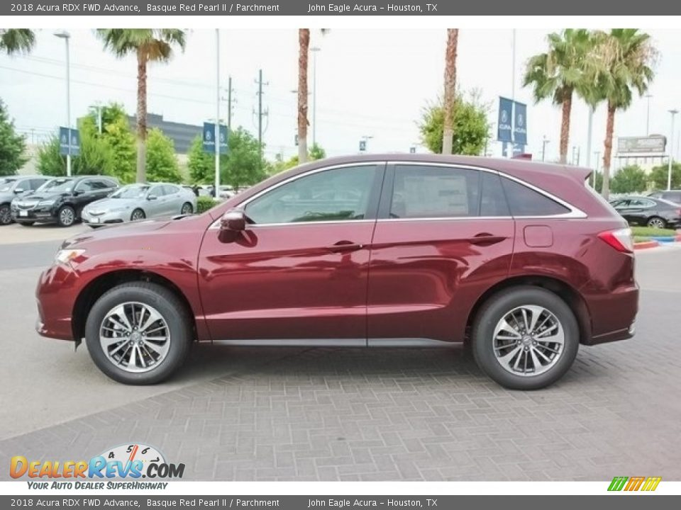 Basque Red Pearl II 2018 Acura RDX FWD Advance Photo #4
