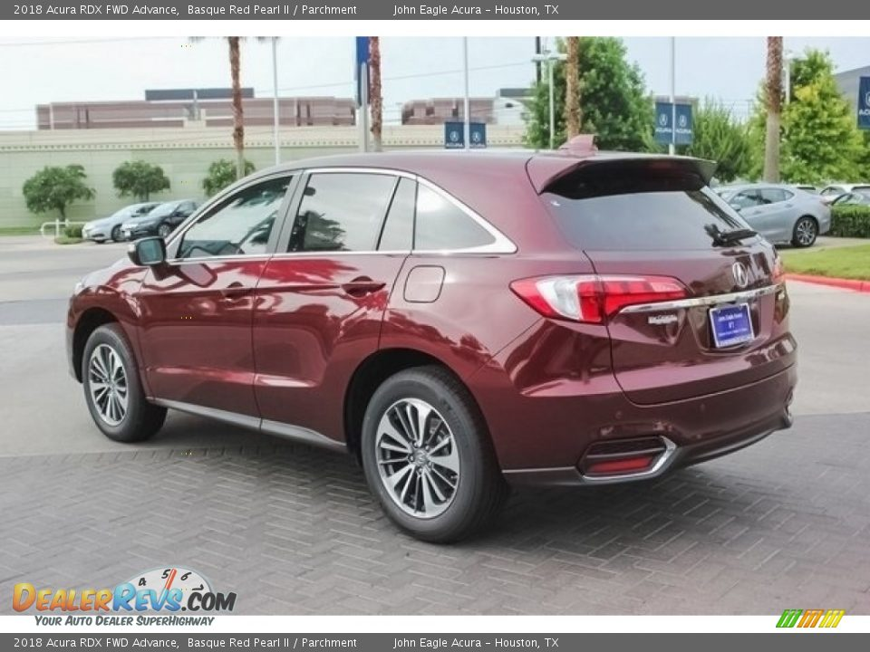 2018 Acura RDX FWD Advance Basque Red Pearl II / Parchment Photo #5