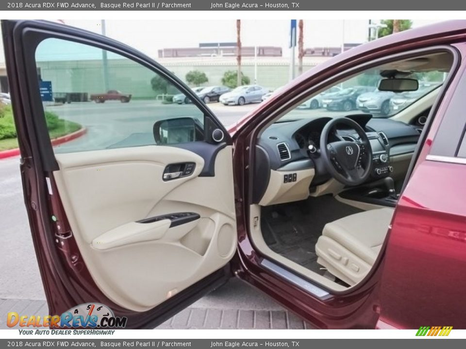 2018 Acura RDX FWD Advance Basque Red Pearl II / Parchment Photo #14