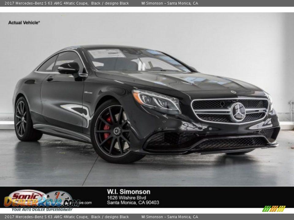 2017 Mercedes-Benz S 63 AMG 4Matic Coupe Black / designo Black Photo #1