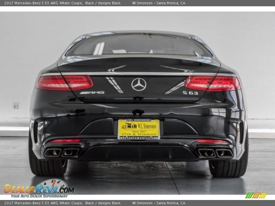 2017 Mercedes-Benz S 63 AMG 4Matic Coupe Black / designo Black Photo #3